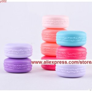 10g Lovely Plastic Cream Box Cosmetics Packing Bottle Eye Shadow Case Jewelry Macarons Red Purple Cute Jars 50 Pieces Lotgood qualtty