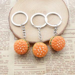 Cute creative mini food simulation keychain resin cake keychain gift pendant accessories keychain jewelry small gift