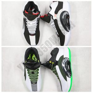 2020 XXXV DNA Jumpman 35 35s siyah beyaz yeşil Gerçek Karbon Elyaf Erkekler kadınlar Basketbol Ayakkabıları Spor Sneakers Boyut 7-12 DA2372 126