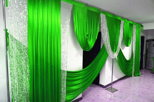3m high*6m wide swags wedding ilver sequin swag designs wedding stylist swags for backdrop Party Curtain Stage background drapes