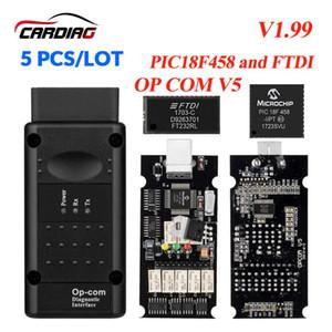 5PCS Lot Opcom Newest V1.99  V1.78 V1.7 V1.65 OP Com Can OBD2 for Firmware Op-com CAN BUS Interface obd2 Diagnostic tool