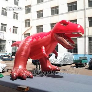 Персонализированные гигантские надувные тиранозавры реплика 5M красный динозавр Модель животных Реклама Реклама Взрыв T-Rex Balloon для украшения парка