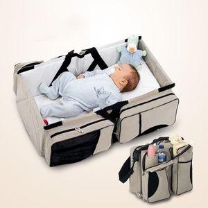 Multi-funzione Portable piegante del bambino Lettino da viaggio letto due Usando mummia imballaggio esterna Borsa per i neonati di sicurezza del bambino trasporta la culla C1008