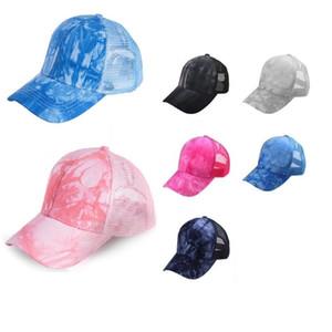 Beyzbol Kap Şapka Kadın Erkek Yaz İlkbahar Sonbahar Açık Güneş Şapka Katı Renk Kapaklar Beanie Pickling Boyama At Kuyruğu Mesh Kovboy Şapkalar H2310