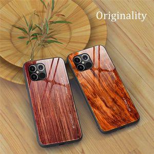 Grain Wood Pro XR XS Case Max iPhone 12 Mini / 12/12 Pro / 12 Pro Max 11 صدمات الهاتف XS الزجاج لمدة أقصى QXASN