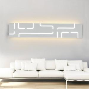 LED-Wandleuchte Moderne Minimalist Aisle Treppenhaus Lampe Studie Schlafzimmer Hintergrund Nacht Badezimmer LED-Spiegel-Wand