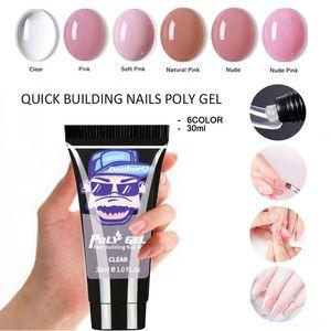 Major Dijit 30g 6 Colors Gel For Extension Poly UV Gel For Manicure Color Nail Gel For Nails Art Painting Nail Art Enamel