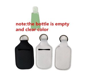 Sublimation Neoprene Sanitizer Holder Solid Color Can Choose Empty Travel Size Bottle With Keychain H sqcfPx dh_seller2010