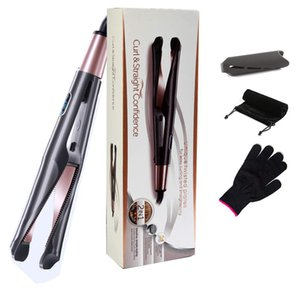 Hot-selling automatic spiral curling iron, rotating bevel two-in-one straight hair curling iron splint and straightening dual-use