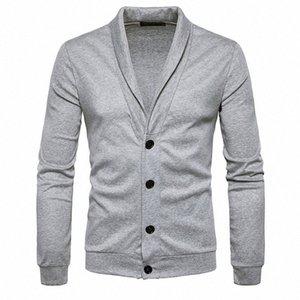 الرجال Sweatercoat صوفية البلوز البلوزات كلاسيكي بيج بويز تريكو كم طويل الرقبة V شال الياقة زر جديد وصول 0605 MMjV #