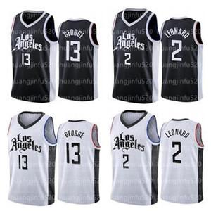 새로운 남자 Kawhi Clipper2 Leonard Paul 13 George Lou 23 Williams Basketball Jersey Size S-XXL