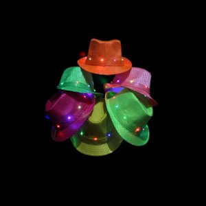 Flash Jazz Hat Sequins Caps Unisex Stage Dance Performance Glowing Hats Bardian Multi Colors Fashion Novelty Items 9 zj ii