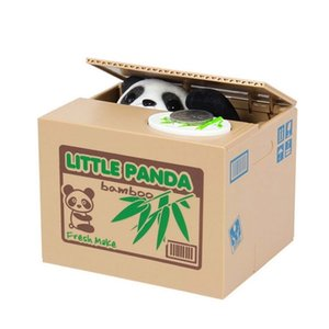 Petite panda iTAZURA automatisée Boîte d'épargne-tireur de la piggir de la coiffe LJ201212
