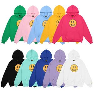 Drew House 2021 mens designers sweaters Top Quality mens designers hoodies Smile Printing Long Sleeve Hoodie