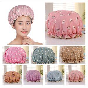 Waterproof Women Shower Cap Satin Beanie Hair Bonnet Bath Accessories Shampoo Multiple Shower Caps Bathroom Set Dust-proof