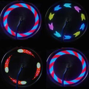 Colorido LED bicicleta de rueda 14 bici de la bicicleta de la señal del rayo del neumático de luz 30 Cambios Ciclismo Accesorios