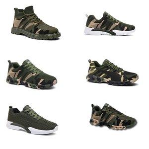 2020 Без бренда Hotsale Дизайнерские Обувь Мужчины Женщины Беговые Обувь Камуфляж Армия Зеленый Открытый Тренер Siez 36-44 Стиль 3017