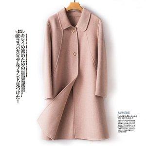 BÉLIARST 2019 Automne et hiver Nouveau manteau de laine pure femme poupée collier Cardigan Veste Casual Loose Grande taille Coat1
