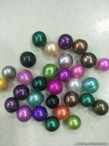 Alta calidad barato Amor Akoya perla de Shell Oyster 6 -7mm gris rojo púrpura Blue Pearl Oyster Con Envasado al Vacío