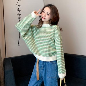 GUUZYUVIZ Autumn Winter O-Neck Knitted Sweater Women Pullover Loose Casual Winter Tops For Women Korean Style