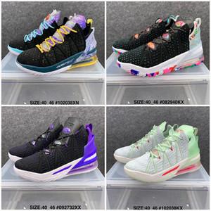 2021 Yeni XVIII 18 Yansımalar James Gang Los Angeles Gündüz Basketbol Ayakkabı James Askerler XVIII Spor Ayakkabı Trainer Ayakkabı Boyutu 7-12