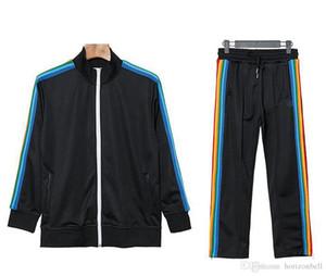 2020 Nouvelle Arrivée Palm Imprimé Angels Designer Tracksuits Hommes Femmes Spring Spring Automne Tracksuit Designer Vestes Blanc Black Jogger Sport