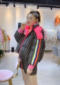 Mens desinger casacos mulheres casacos jaqueta de inverno da moda com capuz ff jaqueta de impressão da mulher de algodão jaqueta Europa-América acolchoado casaco de comprimento médio