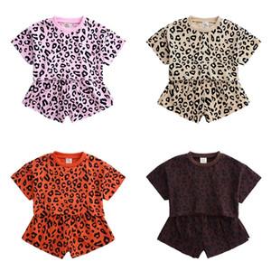 الفتيات ملابس الصيف مخطط طفل فتاة الملابس الأعلى ملابس أطفال البدلة القطن قصير الأكمام التي شيرت + شورت 2 قطعة ملابس الطفل