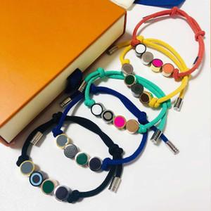 Bracelet de corde à nœuds à la main Bracelet unisexe Bracelet de mode pour homme Femmes bijoux Bracelet réglable Bijoux de mode 5 couleurs