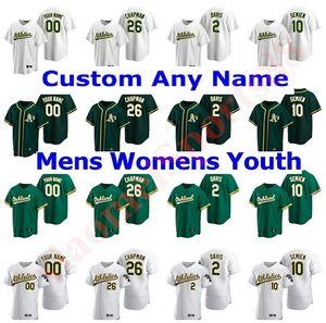 2020 Oakland Athleti Homens Mulheres Crianças Matt Chapman Khris Davis Marcus Semien Chris Bassitt Tony Kemp Ramon Laureano Pinder Baseball Jerseys