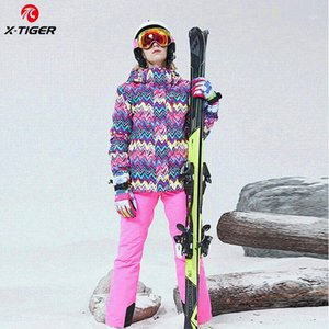 X-TIGER Ski Suit Thick Warm Women Jacket Pants Set Waterproof Windproof Skiing Snowboarding Jacket Female Snowboard Ski Coat1