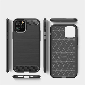 Fibra de carbono iPhone 12 Pro Max Phone Capas Coque iPhone 11 Pro x XR XS Max 8 Plus Capa Samsung S20 Phone Case S10 S10E Nota 20 Ultra 10 9 8