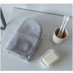 Nueva tapa de baño de baño de fibra Toalla de coral Toalla de cabello Driso Baotou Absorción de agua Secado rápido Espesamiento F Jlokw