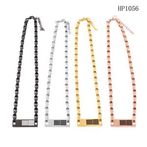 الفولاذ المقاوم للصدأ مجوهرات سميكة سلسلة العلامة قلادة مصمم قلادة مثلج خارج قلادة قلادة الأزياء قلادة المجوهرات
