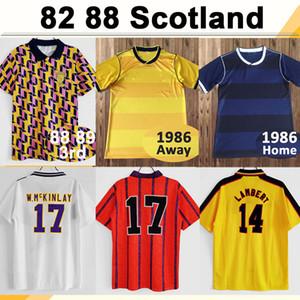 82 86 DALGLISH STRACHAN MILLER HANSEN MENS RETRO SOCCER JERSEYS 96 98 Écosse Burley McNamara Lambert Millacher Hendry Football Shirt