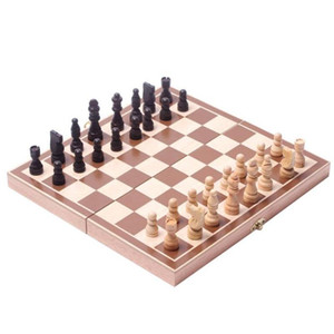 wooden chess 30*30 folding puzzle board game children toys
