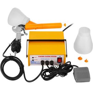 PC03-5 3.3W Электрические Spray Gun Painter 5cfm Powder Coating пистолет Желтая краска Инструменты электростатической системы порошковых покрытий