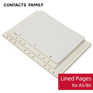 2 pc / lotto di A5 B5 fogli staccabili Notebook Filler Paper 3 6 9 Holes Planner Filler Kraft Papers multifunzionale pagine interne