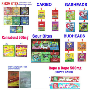 710 Edibles Candy التعبئة والتغليف المضغوط الحامض الدليل nerds caribo حبل قدرة غميس أكياس التعبئة