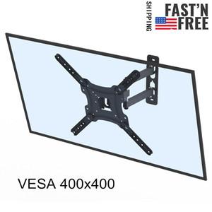 14-55inch TV-Ständer Einstellbar -15 ~ 5 ° C-Wandhalterung Swivel mit Spirit Level LED LCD-Bildschirmverlängerung drehbar