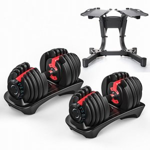 Adjustable Dumbbell Set 90lb  40kg Workout Weights Exercise Gym Fitness Equipment