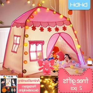 Oyna Çocuklar Kapalı Açık Prenses Kalesi Katlanır Cubby Oyuncaklar Enfant Oda Evi Çocuk Çadır Teepee Playhouse