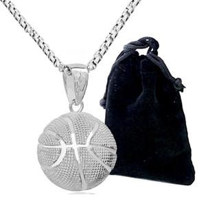 3D-Basketball-Anhänger Halskette Edelstahl Hip Hop Sprorts Schmuck Basketball-Fan-Halskette Geschenk