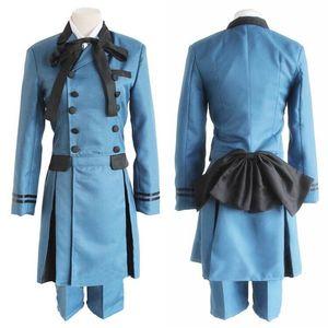 Anime Black Butler Kuroshitsuji Ciel Phantomhive Cosplay Costume Kuroshitsuji Sebasti Aristocrat Emboitement Halloween Costume