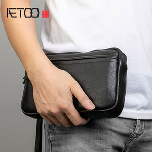HBP AETOO Hand bag, male leather handbag, wristband hand-grasp bag, trend casual men's bag
