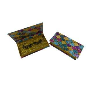glitter scales Magnetic Lashes Box 3D Mink Eyelashes Boxes False Eyelashes Packaging Case Empty Box suitable for 25mm lashes