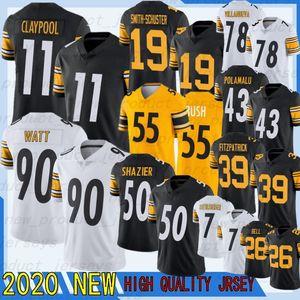 30 James Conner 90 T.J. Watt 11 Chase Claypool Jersey Jersey 19 Juju Smith-Schuster 86 Hines Ward 2 Mason Rudolph 78 Alejandro Villanueva