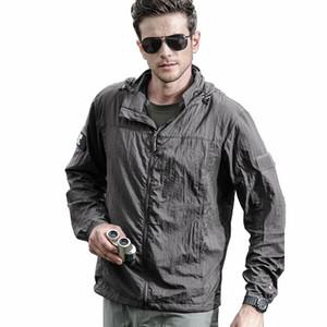 Men women Portable Army Jackets Summer Thin Waterproof Windbreaker Quick Dry Tactical Jacket anti-uv Raincoat clothing
