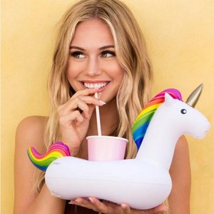 Unicorn Inflatable Cup Holder for Pool Float Drink Holder Boat Beer Holder Swimming Ring Bar Tray Bathing Toys OWB944