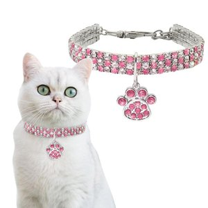 Rhinestone Dog Puppy Collar Cute Cat Collar Bling Dog Cat Jewelry Collars Pet Crystal Diamond Elasticity Necklace Pet Supplies